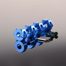 6MM Thickness Metal 12mm Wheel HEX 5.0 Hubs Drive Adaptor Pins & Screws Blue