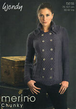 ~ Wendy Knitting Pattern For Lady's Smart Military Jacket To Knit ~