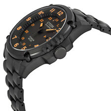 NEW CITIZEN ECO DRIVE MEN'S STX43 SHOCK-PROOF BLACK TITANIUM WATCH BJ8075-58F