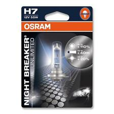 H7 OSRAM NIGHT BREAKER UNLIMITED HEADLIGHT BULBS 12v 55w SINGLE BLISTER (1 Bulb)
