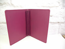 A5 leather menu document holder dark Pink Restaurant caffe