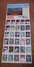 Dunkin Donuts Boston Red Sox 1992 Promo Team Card Set of 30