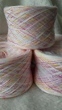 Wollpaket,Strickwolle,Sockenwolle,500g, Baumwolle/Acryl,weiß/rot-gelbFarbverlauf