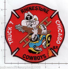 Illinois - Chicago Truck 7 IL Fire Dept Patch  Rhinestone Cowboys