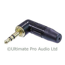 Neutrik NTP3RC-B 3.5mm Right Angle Stereo Jack mini Plug Black Gold Contacts