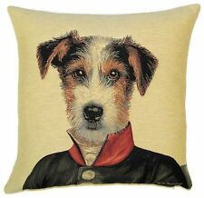 "JACK TERRIER ARISTODOGS 18"" TAPESTRY CUSHION COVER"