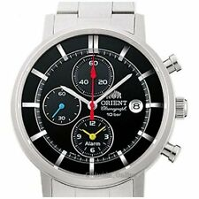 New ORIENT watch STYLISH AND SMART solar WV0061TY Black Mens
