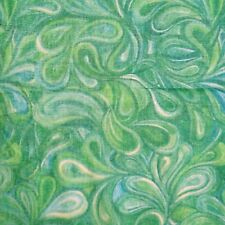 """Green Floral Printed Fabric Pure Cotton 42"""" Wide Dress Material By 1 Yard"""