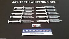 10 Teeth Whitening Syringes 44% Whitening Gel  Mint Flavor At Home Made In USA