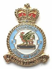 RAF No 3 Squadron Royal Air Force Small Pin Badge *Official Licensed*
