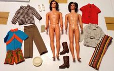 Vintage Barbie Hair Ken Doll Lot With Clothes & Never Used Beard & 2 Mustaches.
