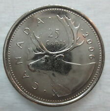 2006P CANADA 25¢ CARIBOU BRILLIANT UNCIRCULATED QUARTER