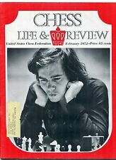 February 1972 Chess Life & Review Magazine  Grandmaster Walter Browne Cover
