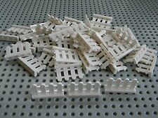 Lego City - Lot of 50 1 x 4 White Picket Fences - New Condition!!