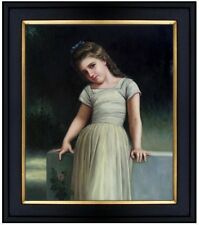Framed Hand Painted Oil Painting Repro Bouguereau The Mischievous One, 20x24in
