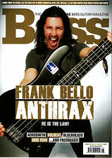 BASS GUITAR Magazine #95 September 2013 FRANK BELLO ANTRAX Aerosmith Volbeat NEW