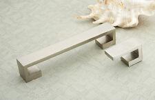"""5"""" modern Satin Nickel Kitchen Cabinet Door Drawer Handle Pull hardware 19SN96"""
