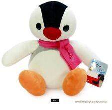 "Cuddly Pingu Penguin stuffed animal plush toy soft doll ~white 9"""