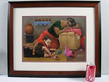 ESPERANZA MARTINEZ 1934-1998 Orig painting Listed artist student of Diego Rivera