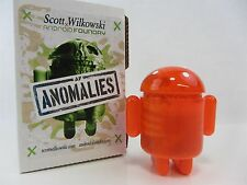 Scott Wilkowski INFECTED ANDROID ANOMALIES resin sculptures - Orange w/Dots