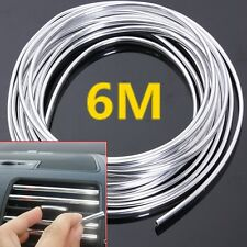 1x6M Chrome Moulding Trim Strip Car Door Edge Scratch Guard Protector Cover Mold