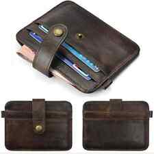 Mens Leather Money Clip Slim Wallet ID Credit Card Holder Case Purse Key Ring hs