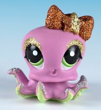 Littlest Pet Shop Octopus #2140 Pink With Green Eyes Glitter Sparkly