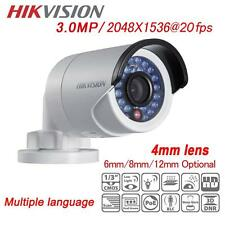 HIKVISION CCTV DS-2CD2035-I 3.0MP IP Camera POE Mini IR Bullet 2032F-I Replaced