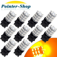 10x Amber Yellow 3157 60-SMD LED Light Bulbs For Car Turn Signal 3057 3457 4157