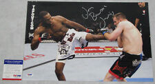 JON 'BONES' JONES Hand Signed HUGE 12'x18' Photo + PSA DNA COA K67715