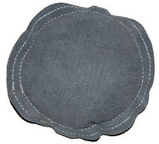 "5"" Gray Round Leather Bench Block Pad For Chasing Stamping Forming Metal"