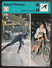 SHEILA YOUNG Speed Skating & Cycling Olympics 1977 SPORTSCASTER CARD 03-05A