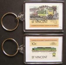 1961 BR Class 55 DELTIC Royal Scots Grey Train Stamp Keyring (Loco 100)
