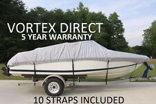 VORTEX GREY 17.5' TO 19' VH BOAT COVER FOR FISHING/SKI/RUNABOUT