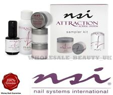NSI Attraction Acrylic Nails Kit  Primer  Powders  Liquid  FAST FREE P&P