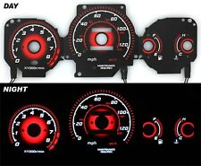 1996-2000 EK Civic EX Radiant Red Glow Gauge BLACK MT Performance Gauges