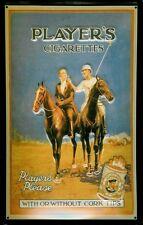 Blechschild Players Cigarettes Polo Pferd Zigaretten Schild Nostalgieschild Deko