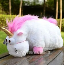 "DESPICABLE ME PLUSH STUFFED TOYS 16"" FLUFFY UNICORN SOFT DOLL"