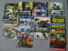 SPLINTER CELL FAR CRY METAL GEAR SOLID MASS EFFECT INFAMOUS JAPAN  BOOKLET X11