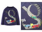 Mini Boden Applique T Shirt Top Vroom Vroom Racing Cars 2-12 years
