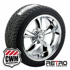 "17x8"" 17x9"" inch Chrome Wheels Rims BFG All Season Tires for Ford Mustang 67-73"