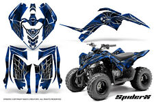 YAMAHA RAPTOR 90 2009-2015 GRAPHICS KIT CREATORX DECALS STICKERS SPIDERX BL