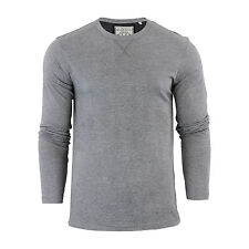Mens T-Shirt by Brave Soul Prague Cotton Long Sleeved Crew Neck Casual Top