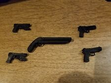 """Casted Weapons Guns Lot for 6"""" scale action figures Marvel Legends Neca 5 guns"""