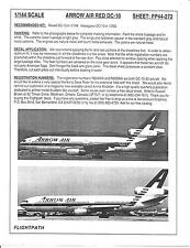 Flight Path Arrow Air Red DC-10 Decals 1/144 FP44 272