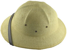 MM Summer 100% Straw Pith Helmet Postman Hat Natural