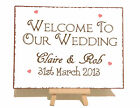 Personalised Welcome Wedding Metal Vintage Shabby Chic Style Plaque Sign Gift