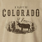 NEW I Love Colorado Elk Men's Khaki / Light Brown T-shirt M L XL 2X 3X