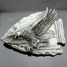 Vintage Silver Native 3D Indian Chief Arrow Head Eagle Zuni Navajo Belt Buckle