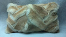 Real Genuine Coyote Sections Fur Pillow new made in  usa authentic fur cushion